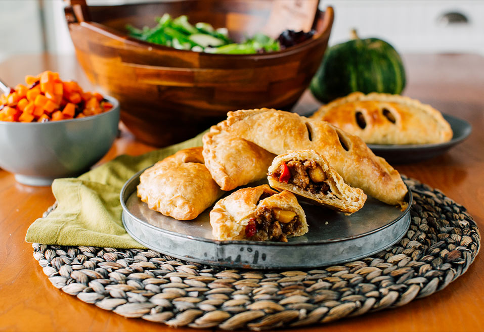Roasted Root Vegetable and Turkey Hand Pies