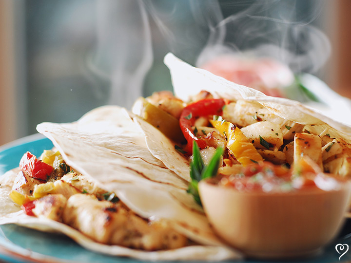 Sizzling Chicken Fajitas with Cheese