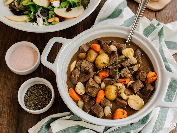 Hearty Braised Beef with Autumn Vegetables