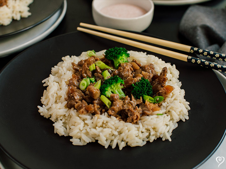 Mongolian Beef with White Rice