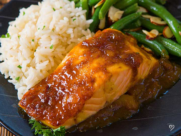 Mango Glazed Salmon