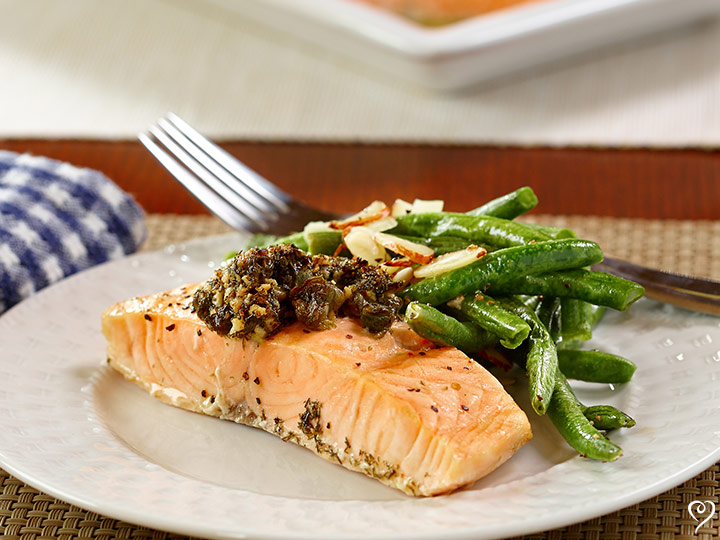 Fishermans Grilled Salmon with Caper Compound Butter