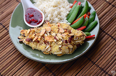 Oven Baked Almond Chicken