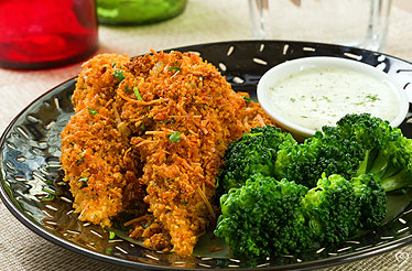 Cornflake Crusted Chicken Tenders with Dipping Sauce