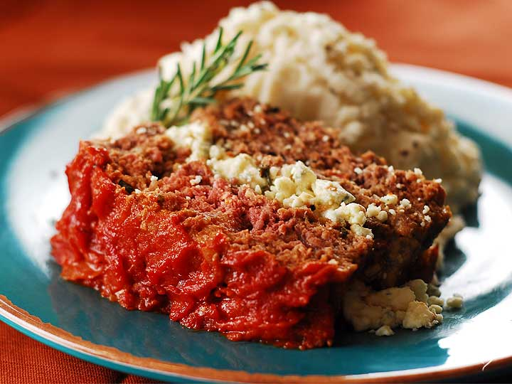 Meatloaf Milano with Almond Green Beans