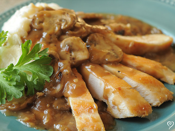 Chicken Marsala with Mushrooms & Mashed Potatoes