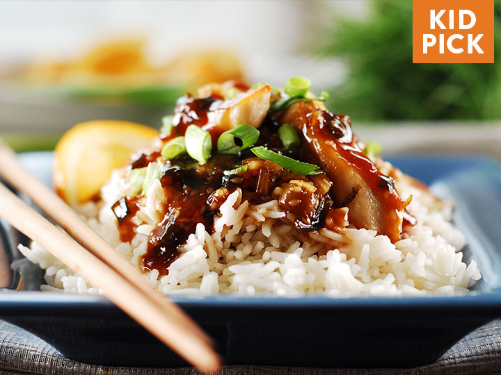 Chicken Yakitori over Jasmine Rice