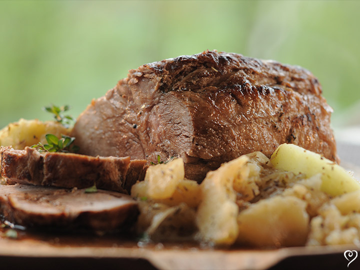 Normandy Pork Roast with Apples