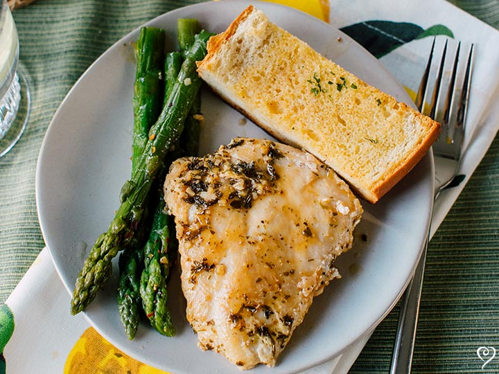 Lemon Villa Chicken with Almond Green Beans