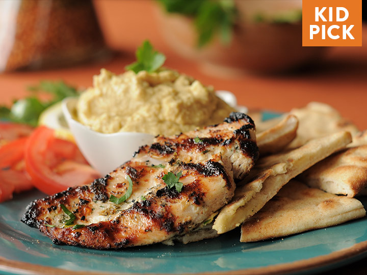 Terracotta Chicken with Pita & Hummus