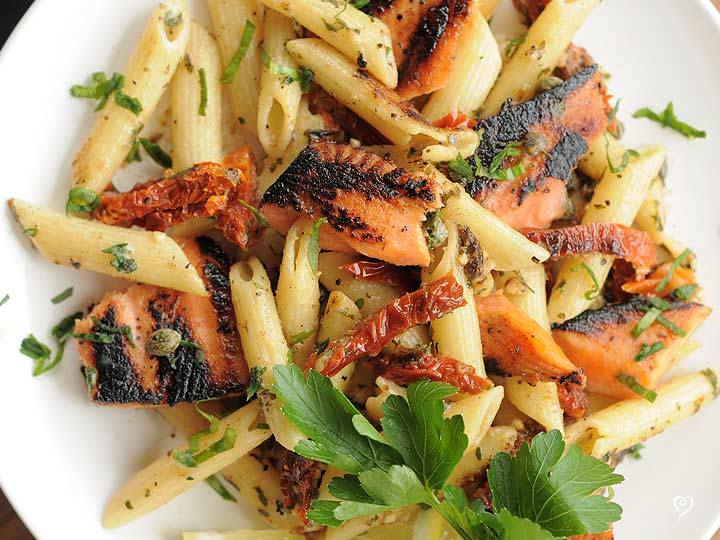 Smoky Salmon and Penne Pasta