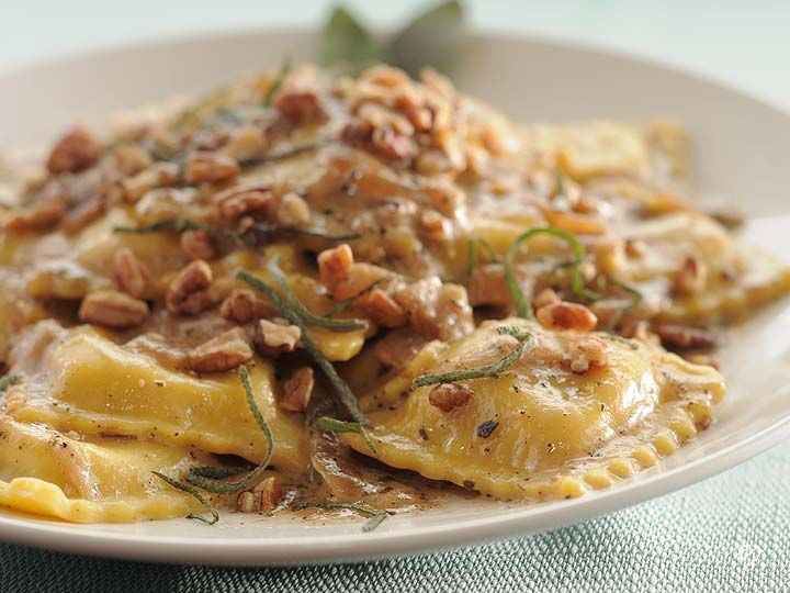 Butternut Squash Ravioli with Caramelized Onions