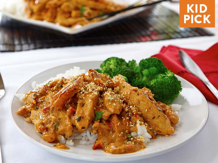 Thai Peanut Chicken with Jasmine Rice