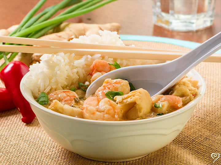 Thai Shrimp Soup over Jasmine Rice