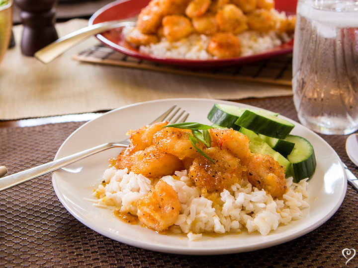 Limoncello Shrimp with Coconut Rice