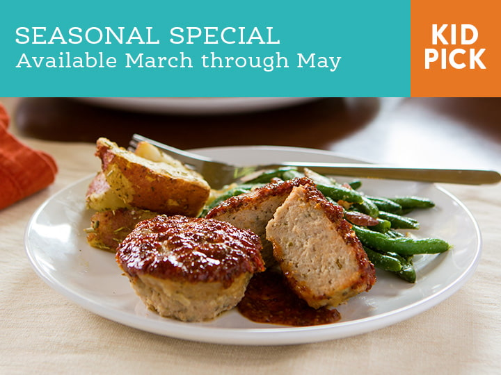 Mini Turkey Meatloaves with Bacon Ranch Green Beans
