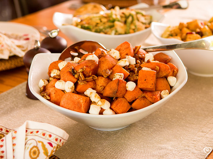 Holiday Sweet Potatoes with Brown Sugar and Pecans