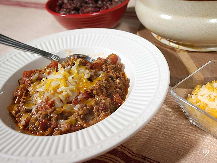 Down Home Texas Ranch Chili with Cheddar Corn Cakes