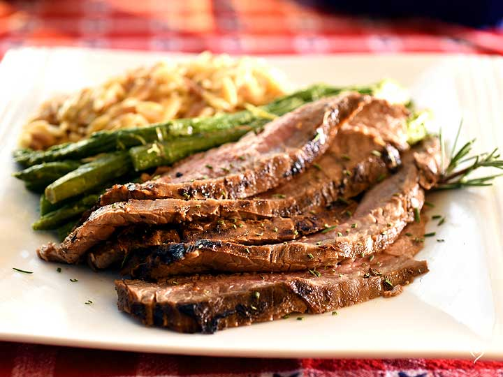 Smoky BBQ Flank Steak with Grill Sides