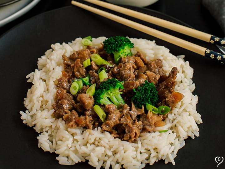 Cantonese Beef and Broccoli over Rice
