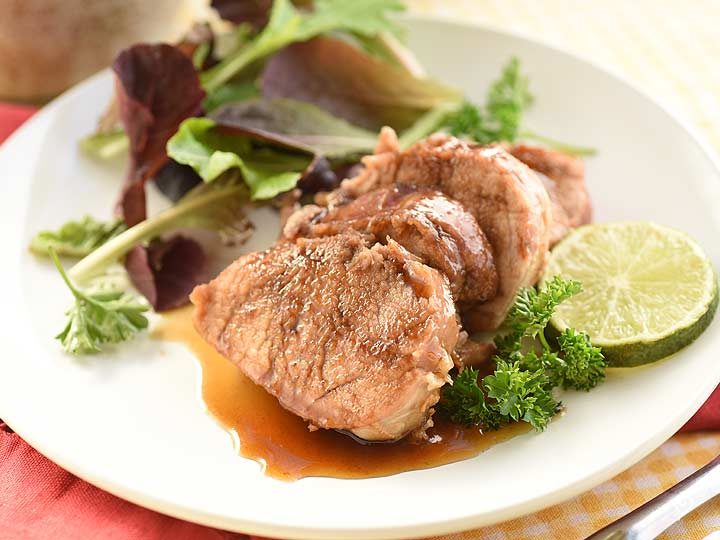Cola and Lime Pork Tenderloin with Oven Roasted Broccoli