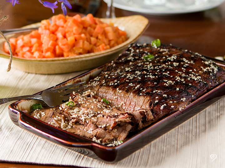 Sesame Marinated Flank Steak