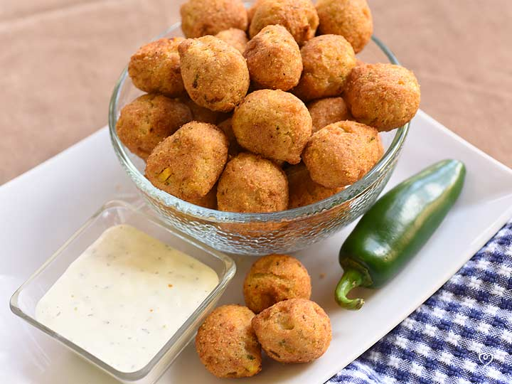 Jalapeno Hushpuppies with Ranch