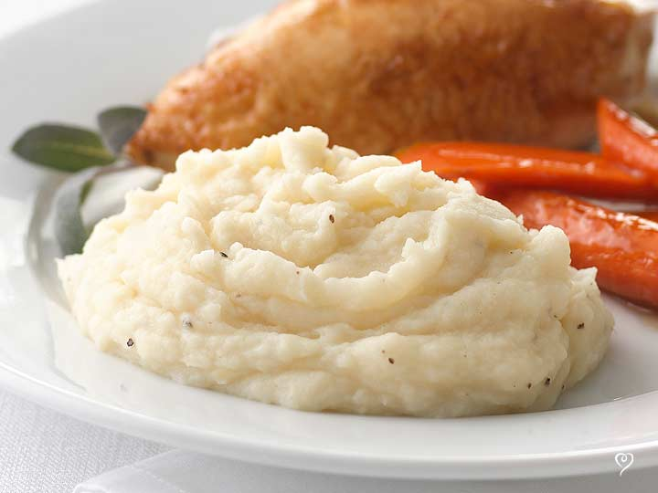 Holiday Redskin Garlic Mashed Potatoes