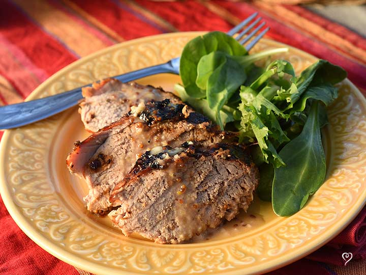 Caribbean Pork Tenderloin with Honey Mustard Glaze