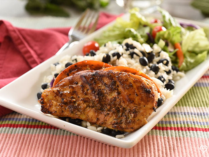 Cubano Chicken with Black Beans and Rice