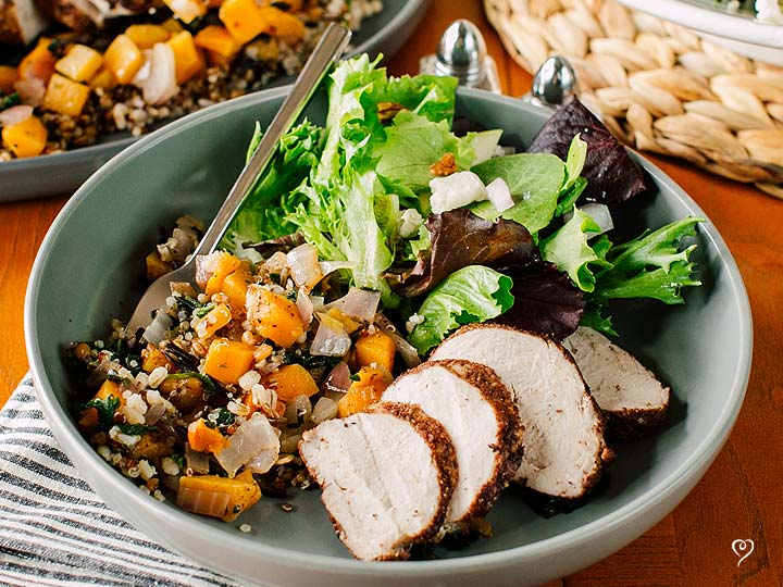 Spiced Pork Tenderloin with Butternut Squash Hash